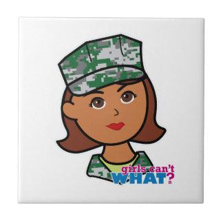 Military Woman Ceramic Tile