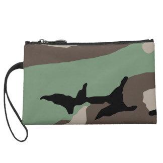 Military Woodland Camouflage Wristlet Purse