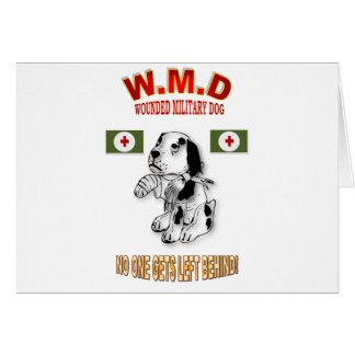 MILITARY WORKING DOGS GREETING CARD