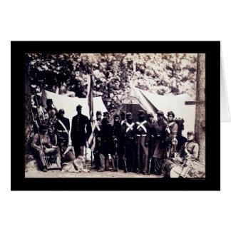 Militia Troops in Arlington, VA 1861 Greeting Card