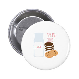 Milk and Cookies 6 Cm Round Badge