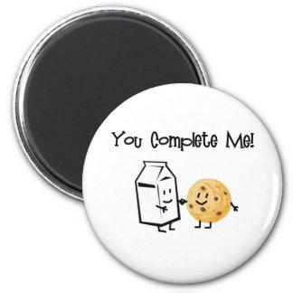Milk and Cookies 6 Cm Round Magnet