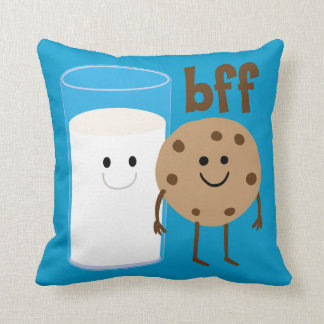 Milk And Cookies BFF Throw Pillow