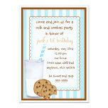 Milk and Cookies  Birthday Invitation 13 Cm X 18 Cm Invitation Card