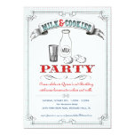 "Milk and Cookies Party Invitation 5"" X 7"" Invitation Card"