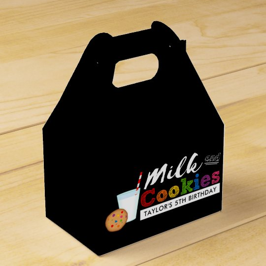 Milk and Cookies Rainbow Birthday Party Favour Box