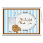 Milk and Cookies Thank you Note Card