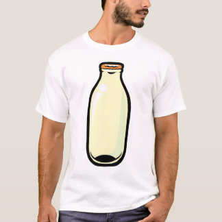 Milk Bottle. Gold top. T-Shirt