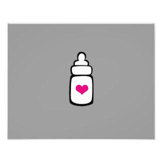 Milk bottle with heart photo