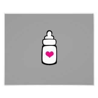 Milk bottle with heart photo art