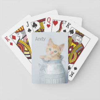 Milk Can Kitten Playing Cards