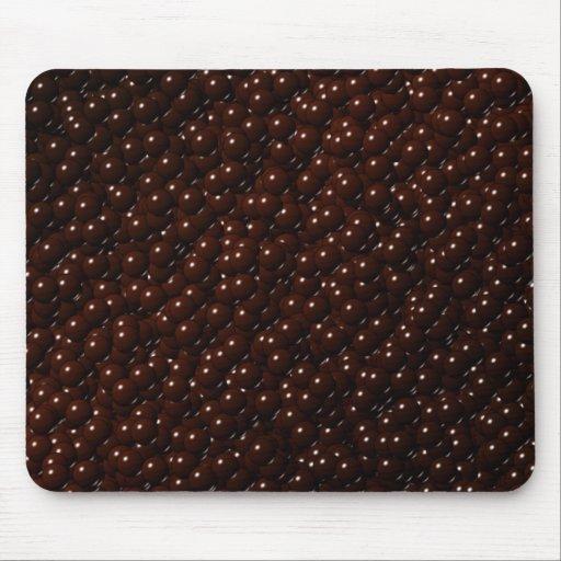 Milk Chocolate Candy Balls Camo Mouse Pads