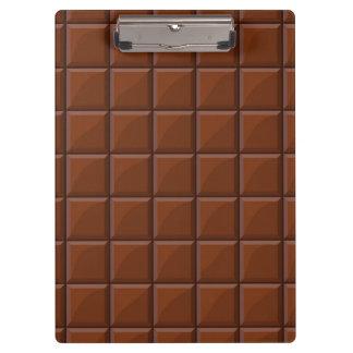 Milk chocolate clipboard