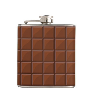 Milk chocolate hip flask
