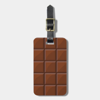Milk chocolate luggage tag