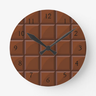 Milk chocolate round clock