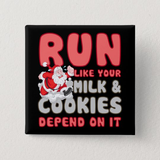 Milk & Cookies 15 Cm Square Badge