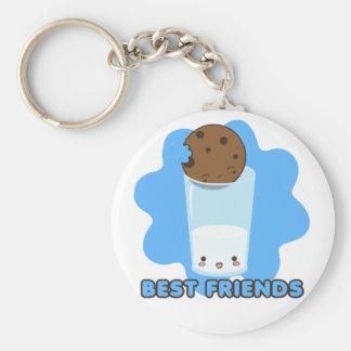 Milk & Cookies (backsplash) Basic Round Button Key Ring