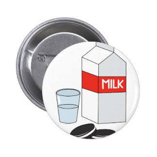Milk & Cookies 6 Cm Round Badge