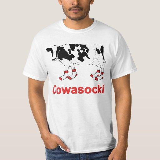 Image of Milk Cow in Socks - Cowasocki Cow A Socky T-shirt