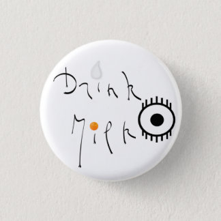 Milk drink 3 cm round badge