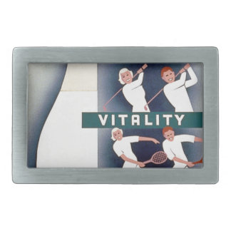 Milk - for health, good teeth, vitality, endurance belt buckle