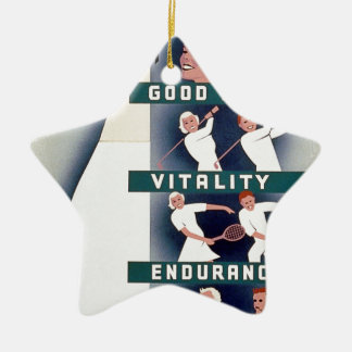 Milk - for health, good teeth, vitality, endurance ceramic star decoration