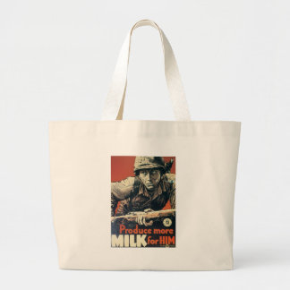 Milk For Him World War II Canvas Bag