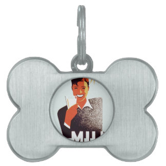 Milk - for summer thirst pet tag