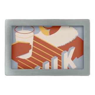 Milk - for warmth Energy food Belt Buckle