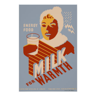 Milk - for warmth Energy food Poster