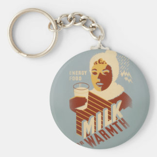 Milk for Warmth Key Ring