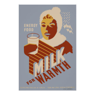 Milk for Warmth Poster