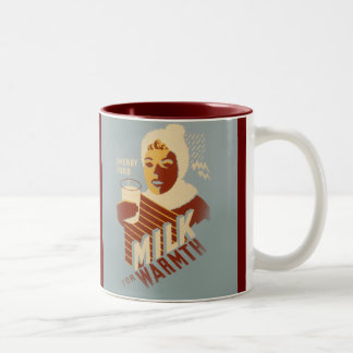 Milk for Warmth Two-Tone Mug
