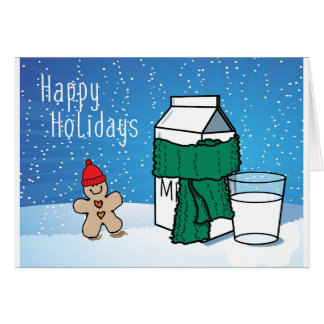"""""""Milk & Ginger"""" Funny Snow Holiday Card"""