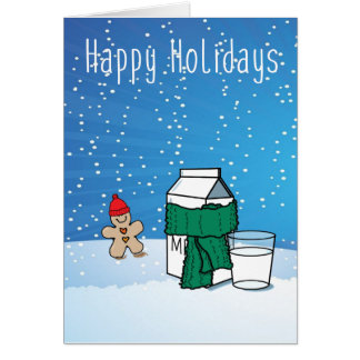 """""""Milk & Ginger"""" Funny Snow Holiday Greeting Card"""