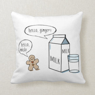 Milk & Ginger Quirky White Throw Cushion