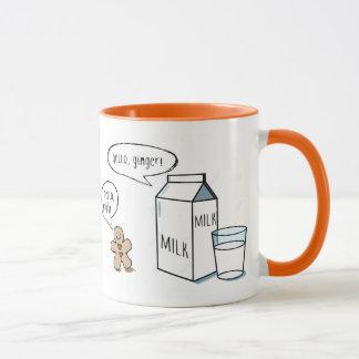 Milk & Ginger White Mug (Orange Interior/Handle)