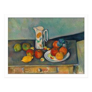 Milk Jug and Fruit by Cezanne Postcard