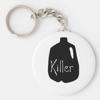 Milk killer line basic round button key ring