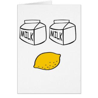 Milk Milk Lemonade Card