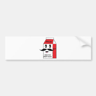 Milk Mustache Bumper Sticker