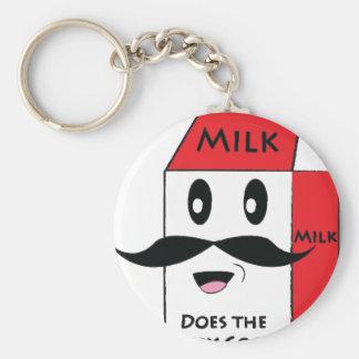 Milk Mustache Key Chains