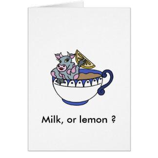 Milk, or lemon? card