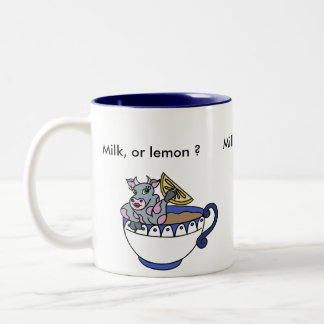Milk, or lemon? Two-Tone mug