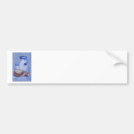 Milk Pitcher and Glass Bumper Stickers