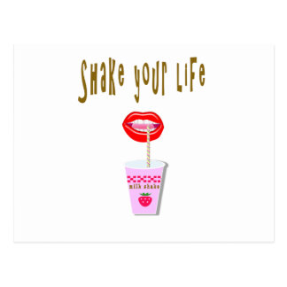 Milk shake postcard