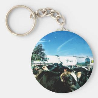 milk truck key chain