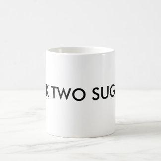 MILK TWO SUGARS COFFEE MUG