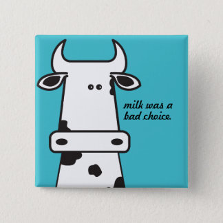 Milk was a bad choice. 15 cm square badge